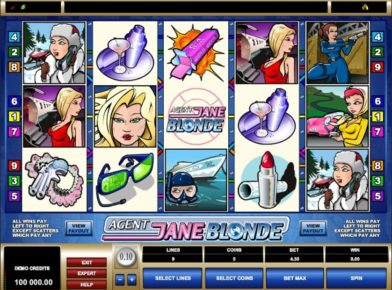 Agent Jane Blonde Slot log
