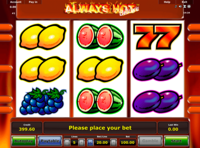 Always Hot slot logo