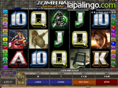tomb-raider-i-i slot logo